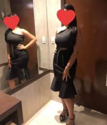 Vestido preto social usado uma vez