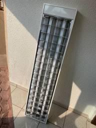 Luminária Sobrepor Abalux 1,20m com Lâmpadas Led