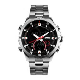 Relógio Skmei em Aço Inoxidável - A prova d'agua 3ATM