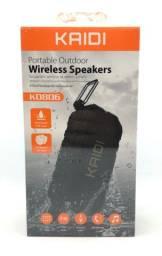 Caixa de Som Kaidi Kd806 Prova D'água Bluetooth USB Pendrive Auxiliar Fm Nova na Caixa