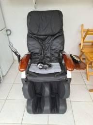 Cadeira de massagem elétrica em couro