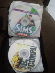 CDs de PS2 e XBOX360