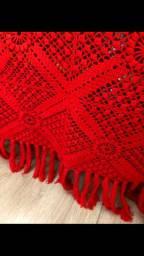 Colcha artesanal em crochê