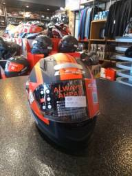 Capacete para moto LS2 cap FF358 Sigma MATTE BLK/FLUO ORANGE 60L