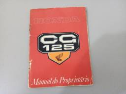 Manual do Proprietário Honda CG 125. Ano 1978