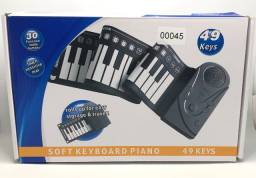 Teclado Eletrônico Piano 49 Teclas Silicone Roll Up Piano Novo na Caixa