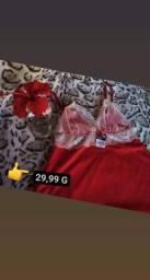 Baby Doll e conjuntos de calcinha e sutiã