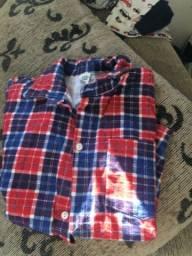 Camisa florida estilo caipira tam 14