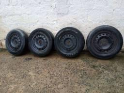 Rodas 14 com pneus aceito cartão 300 reais