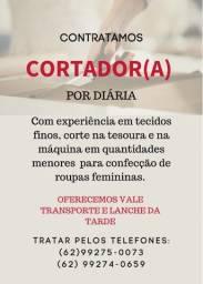 Título do anúncio: CORTADOR(A) POR DIÁRIA EM GOIÂNIA