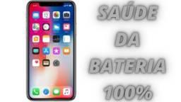 iPhone X 64gb De Vitrine Saúde Da Bateria 100% (No Plástico) Aceitamos Todos Os Cartões