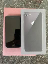 iPhone 8, 64gb, usado, com caixa e acessórios