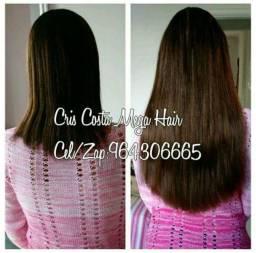 Mega Hair Cabelo humano e Colocação