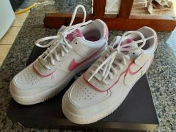 "Tênis Air force 1 shadow ""White Magic Flamingo"""