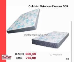Colchoes ortobom D33 casal ou solteiro