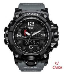 Relógio Smael G Shock cor (Cinza) Militar Tático  a prova da água C/ Caixa