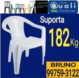 Cadeira plástica Estilo Poltronas 182kg - QuaLi