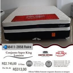 Título do anúncio: Cama Super King Molas Ensacadas Tecido de Bambo NOVA DE FÁBRICA