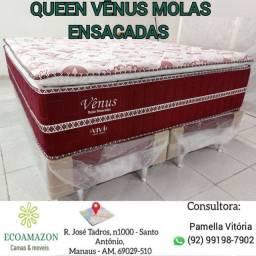 Título do anúncio: Cama Queen Size Molas Ensacadas +2 travesseiros