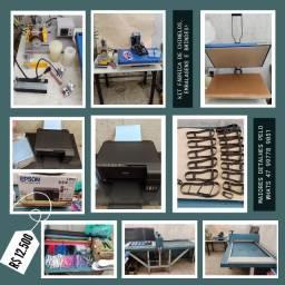Kit fábrica chinelos, embalagens, brindes... (maquina corte e vinco automática)