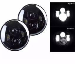 Farol LED 7 polegadas com faixo baixo e alto