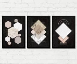 Quadros Decorativos Abstrato Geométrico Para Sala, Quarto, escritório