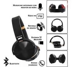Fone De Ouvido Sem Fio Bluetooth rádio e entrada cartão memória