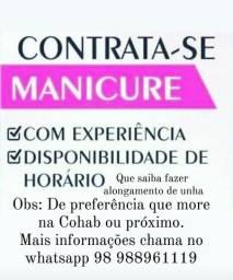 Título do anúncio: Contrata-se Manicure Pedicure