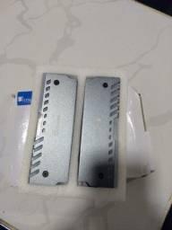 Kit 2 Dissipadores Calor Memoria Ram Led Rgb Ddr2 Ddr3 Ddr4