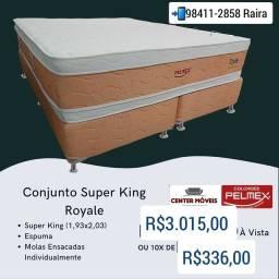 Título do anúncio: Cama Super King Molas Ensacadas Nova de Fábrica com Frete grátis