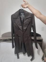Jaqueta de couro Sobretudo Feminino