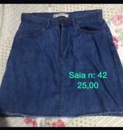 Título do anúncio: Saia jeans n 42