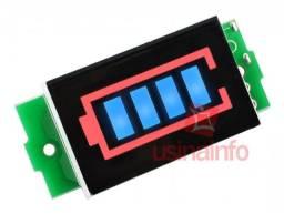 Voltímetro Indicador Carga Bateria 18650 1S 2S 3S 4S arduino