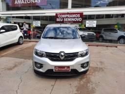 Renault Kwid Intense 1.0 12V Manual Flex Prata 2018 / 2019