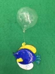 Título do anúncio: Peixe de Vidro - Azul