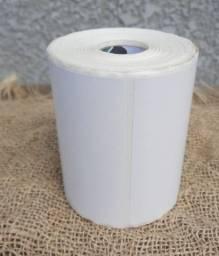 2 rolo etiqueta 100x50 (10x5) adesiva couche com