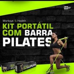 Barra Pilates Portátil Exercício Fitness Casa Pernas Glúteos