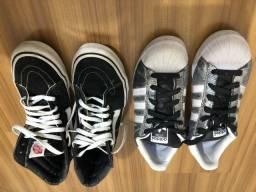 Vans e Adidas Supestar glitter