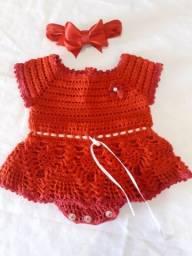 Vestido crochê tamanho RN