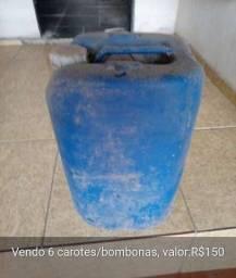 Troco carotes/bombonas 25 litros por uma cesta básica