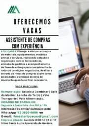 Título do anúncio: Contrata se Assistente Compras