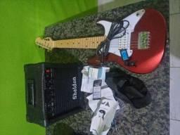 Guitarra infantil phx+cubo+cabo+afinador