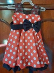 Vestido Minnie para festa nunca foi usado novo
