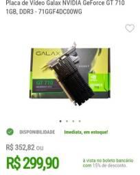 Placa de vídeo GeForce gt 710 1 gb<br><br>