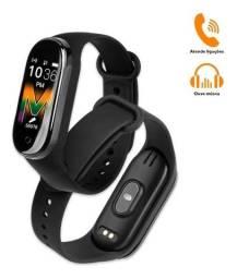 Relógio Inteligente Smartwatch M5 Atende Ligação e Toca música