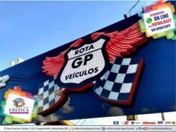 Título do anúncio: Fachadas Comerciais Acm Luminosos Painel Placa Lona Adesivos Serralheria