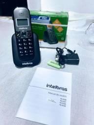 Telefone Intelbras sem Fio TS 5121 Ramal - Preto