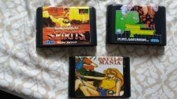 Lote De 3 Jogos Para Mega Drive Por R$ 77,00