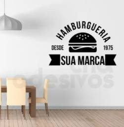 Título do anúncio: Adesivo Logo Hamburgueria