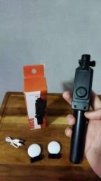 Tripé para celular Ajustável com anel de luz e controle bluetooth